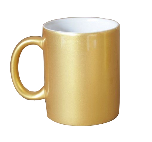 11 OZ Metallic Gold Sublimation Mug with Orca Coating for Sublimation Printing