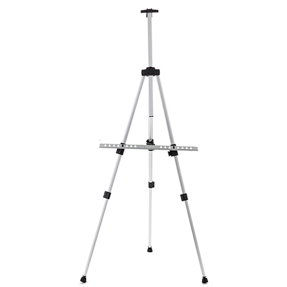 ​Adjustable Tripod Stand Sign Displays Bar Portable +Bag (Silvery)