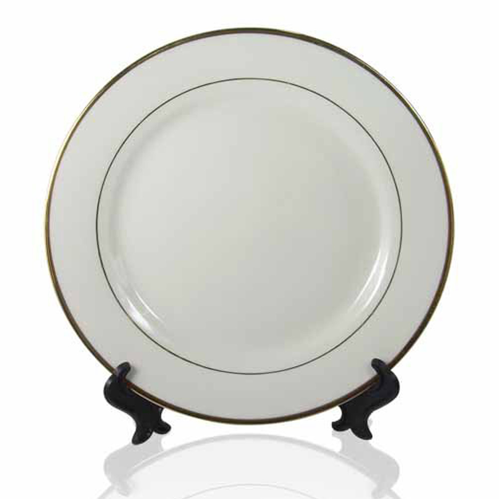 8 Inch Sublimation Ceramic Plate Coated Gold Rim