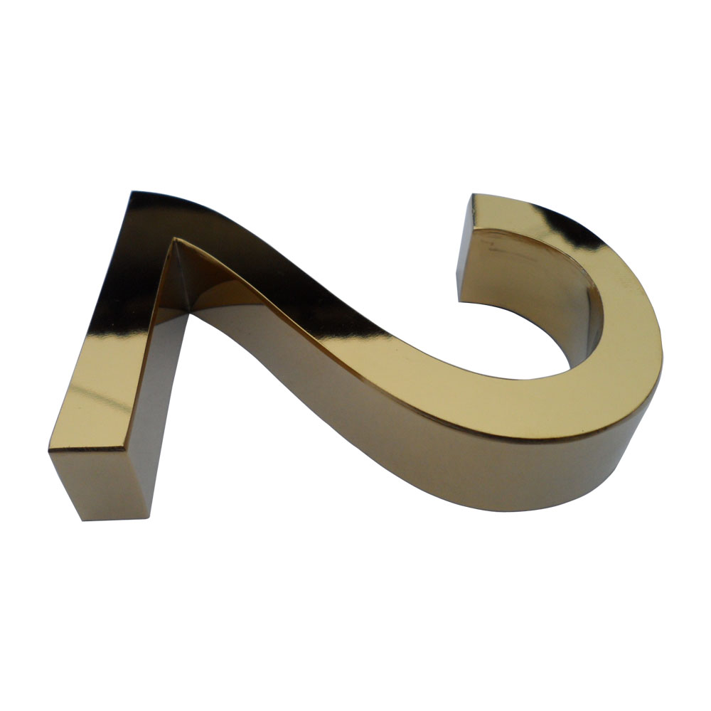Modern Stainless Steel Titanium Gold Letters & Numbers (Item Height: 3.95~39.4 inch)