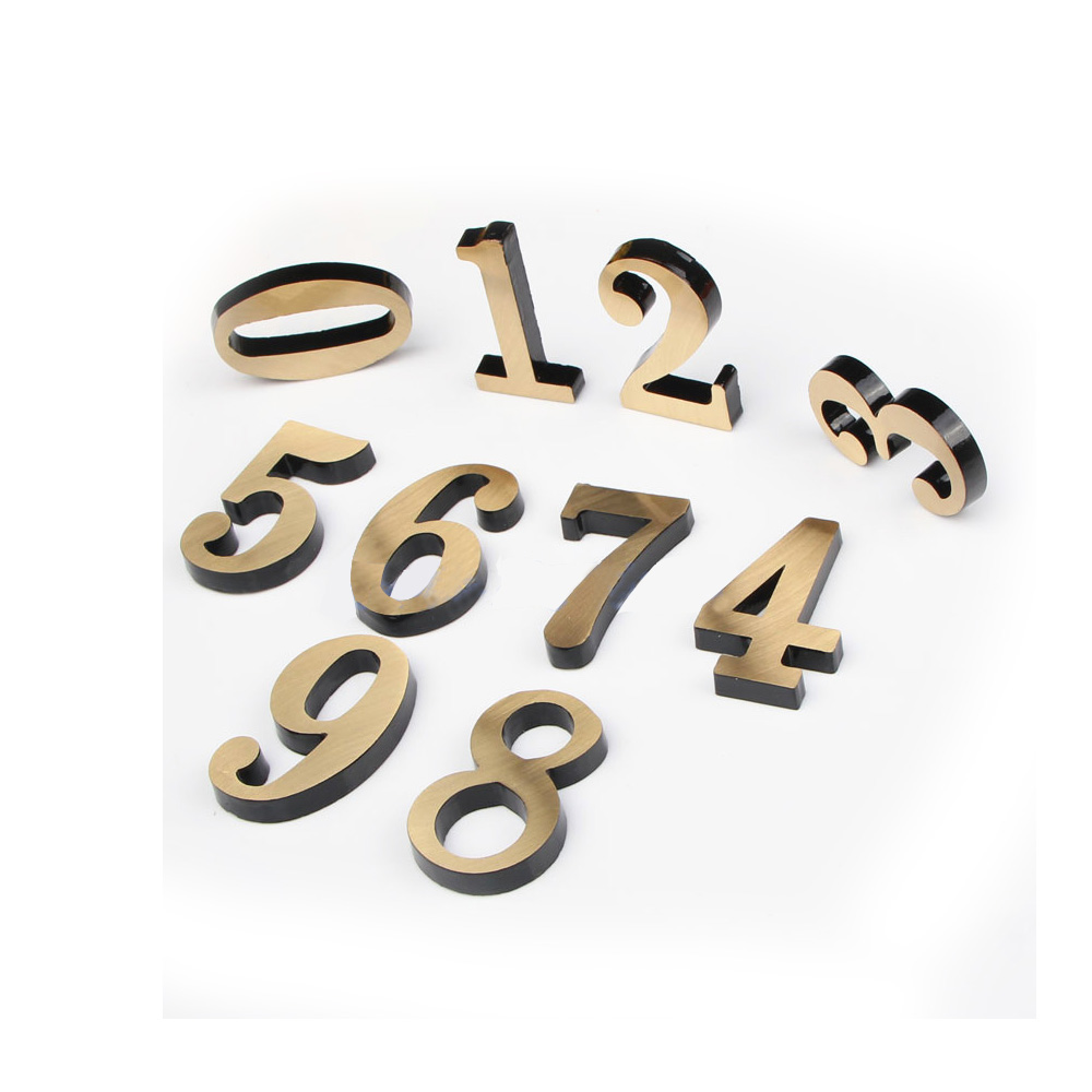 Modern High Quality Mini Copper Numbers for Address Plaque