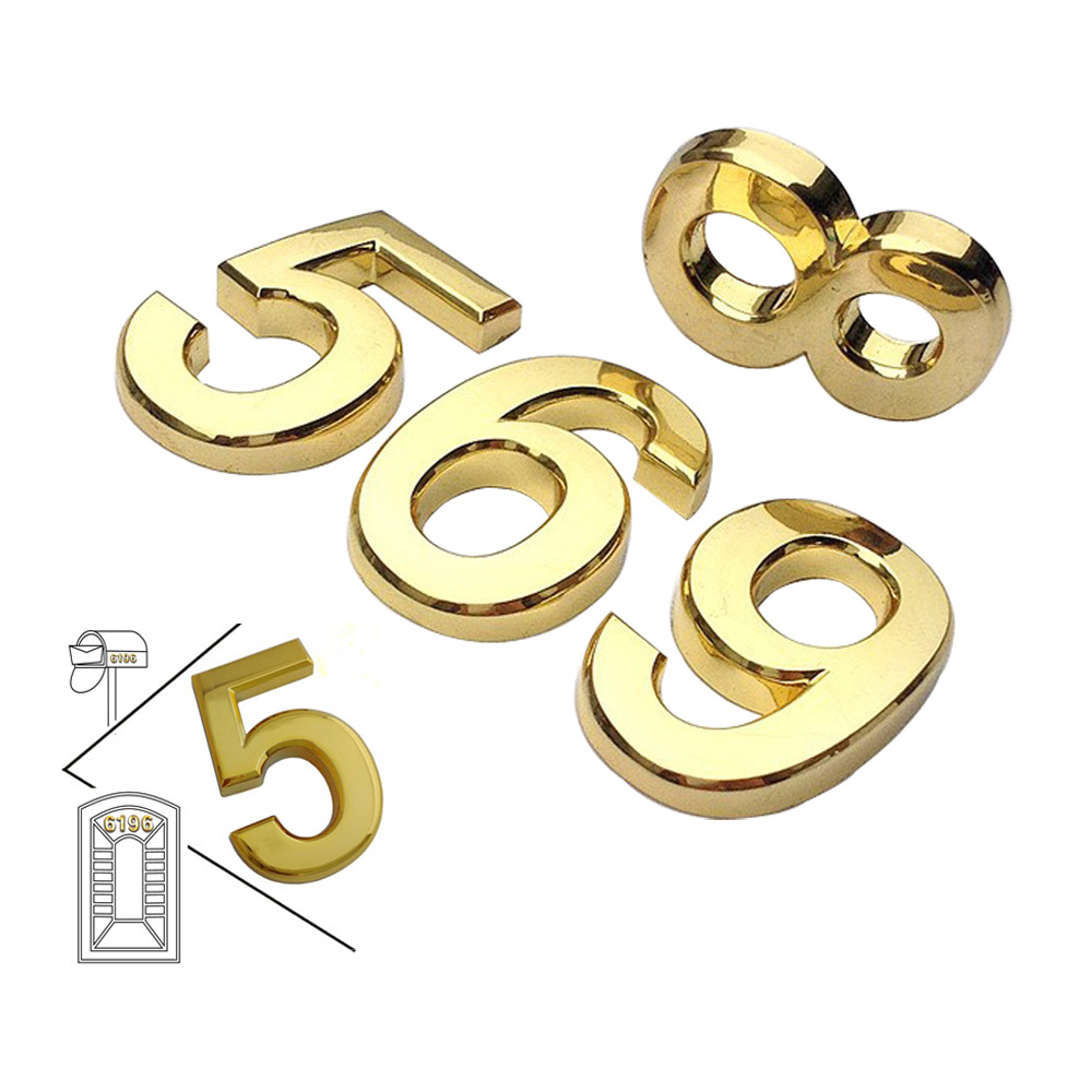 Modern House Plaque, Mail Box, Hotel Door Golden Numbers (Several Sizes Available)