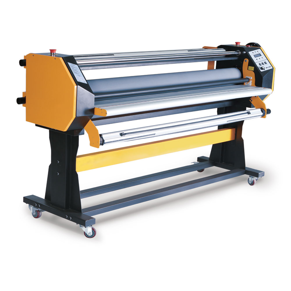 """Ving 67"""" Stand Frame Full-auto Single Side Wide Format Hot/Cold Laminator with Stand"""