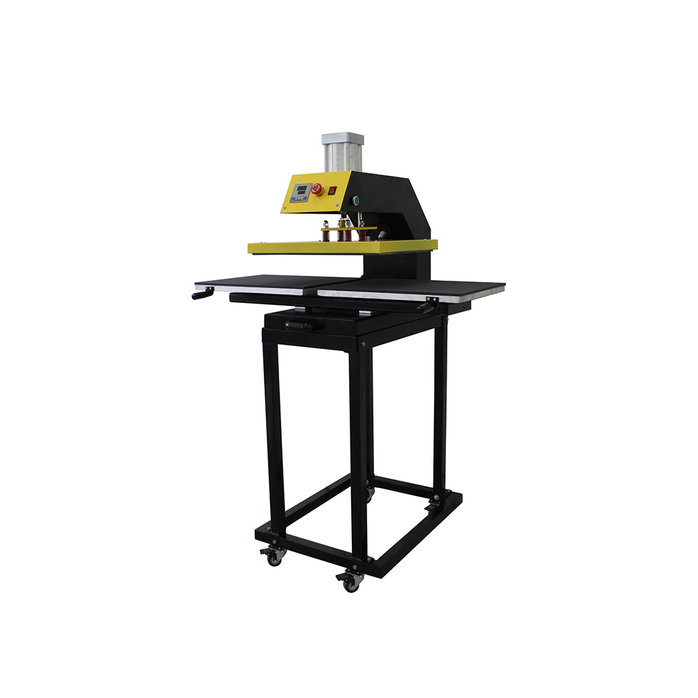 """16"""" x 20"""" Pneumatic Double Working-Table T-shirt Heat Press Machine with Removable Tables and Stands"""
