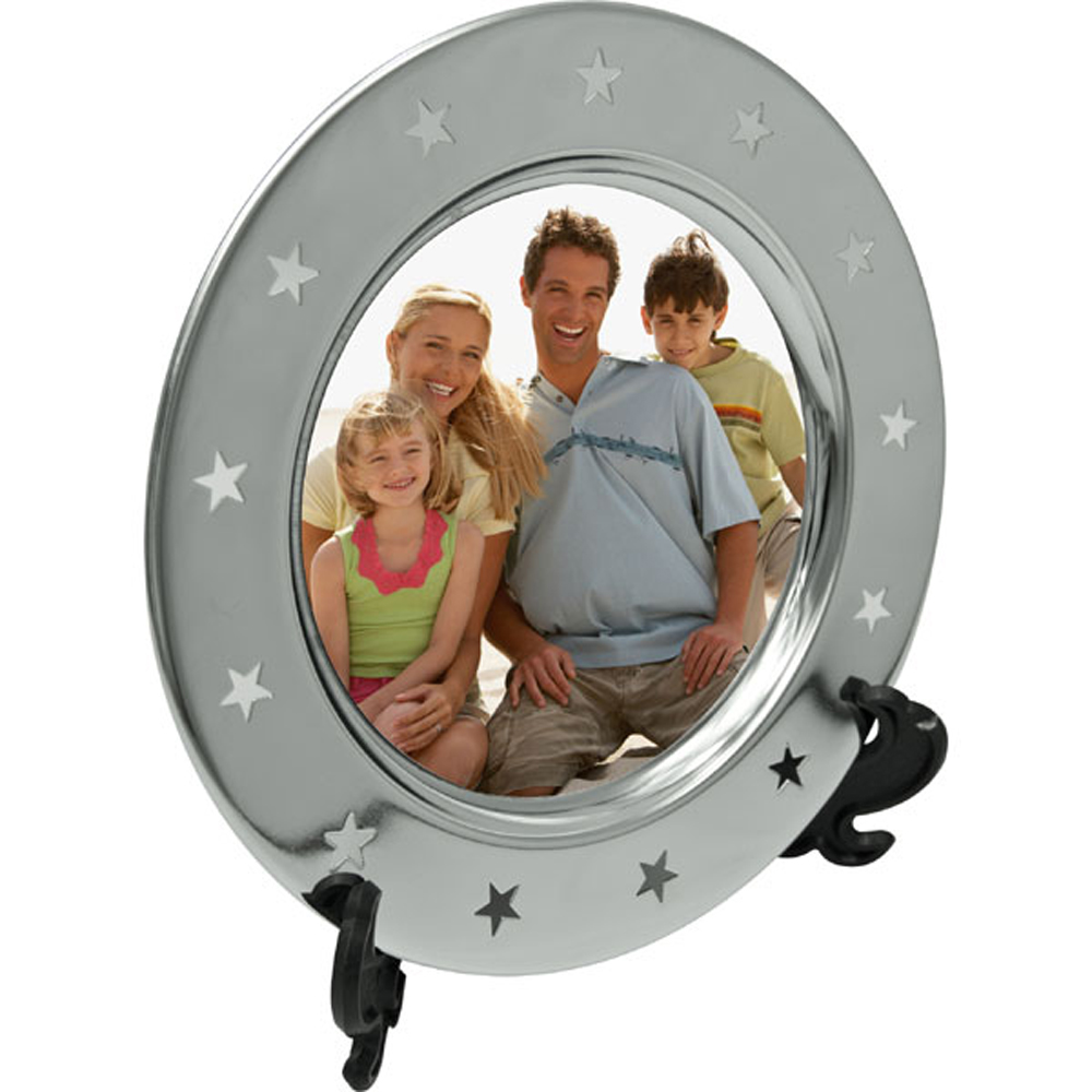 6 Inch Sublimation Metal Plates Round Star Side with Support Stand