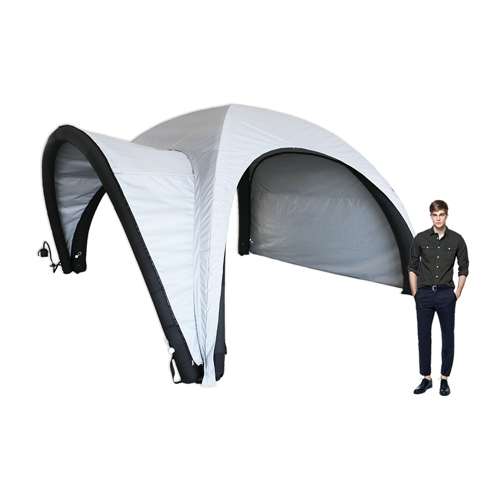 16ft Inflatable Tent with One Side Panel and Awning Outdoor Custom Graphic Spider Air Dome Tent