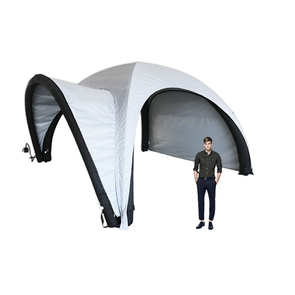 19ft Inflatable Tent with One Side Panel and Awning Outdoor Custom Graphic Spider Air Dome Tent