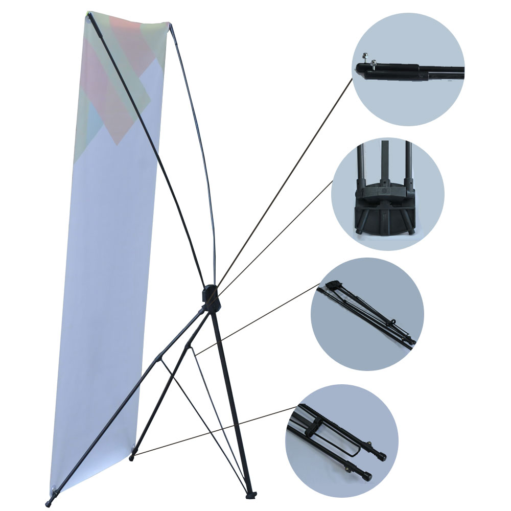 """31""""W x 71""""H Economy Aluminum Foot Tripod X Banner Stand (Stand Only)(10pcs/pack)"""