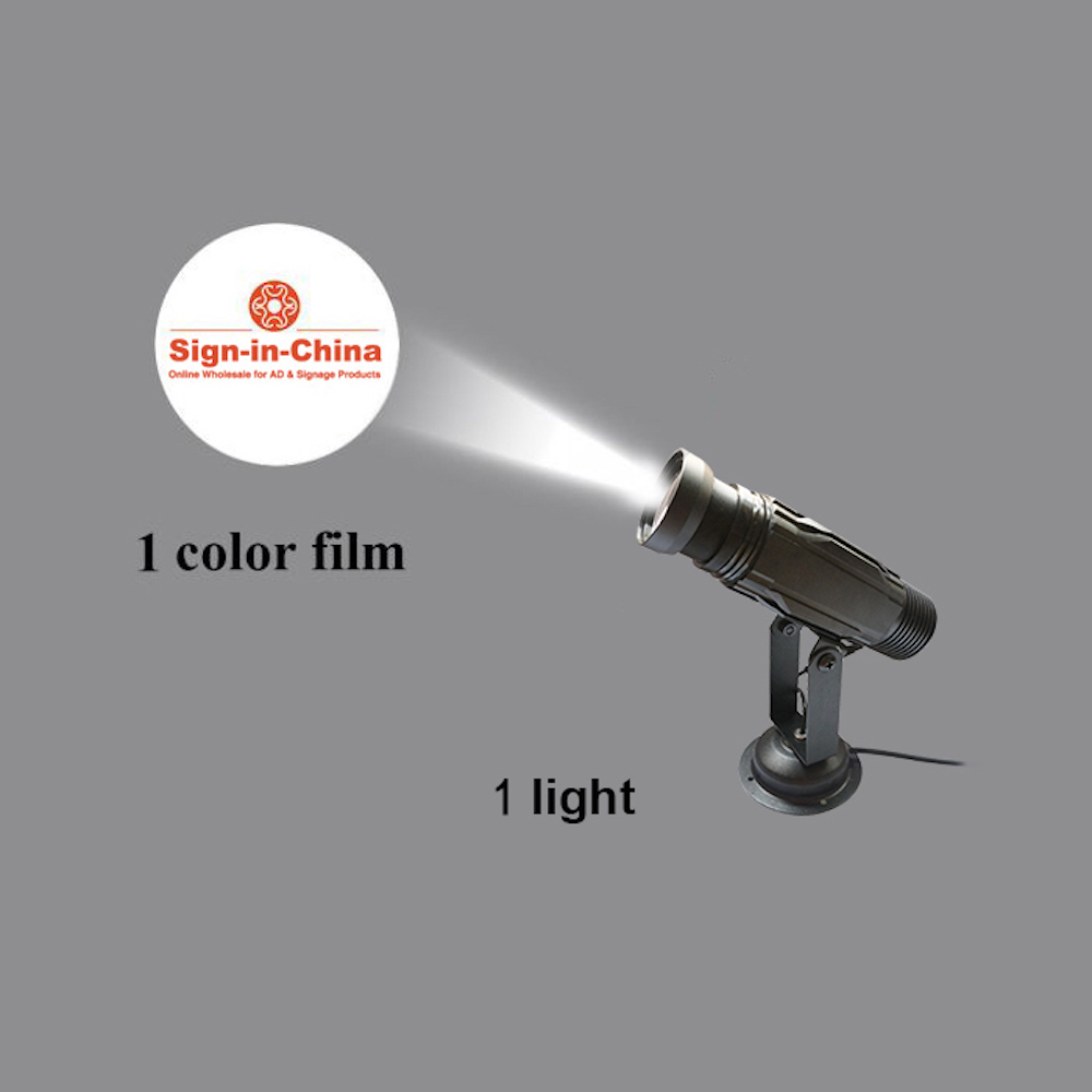 High Quality 12W LED Static Gobo Outdoor Advertising Logo Projector Light (with Custom Glass Gobos)