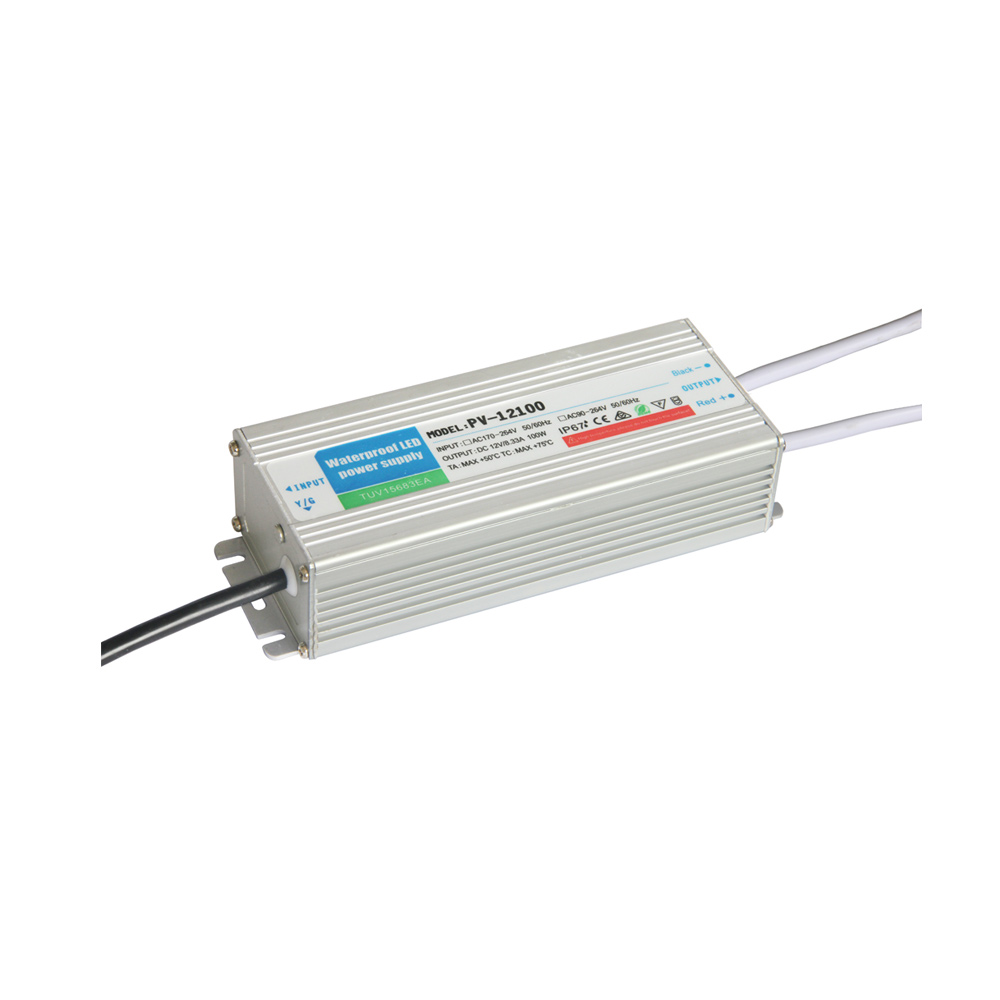 Outdoor Waterproof Transformer Power Supply Adapter LED Light Driver AC-DC 12V 8.33A 100W