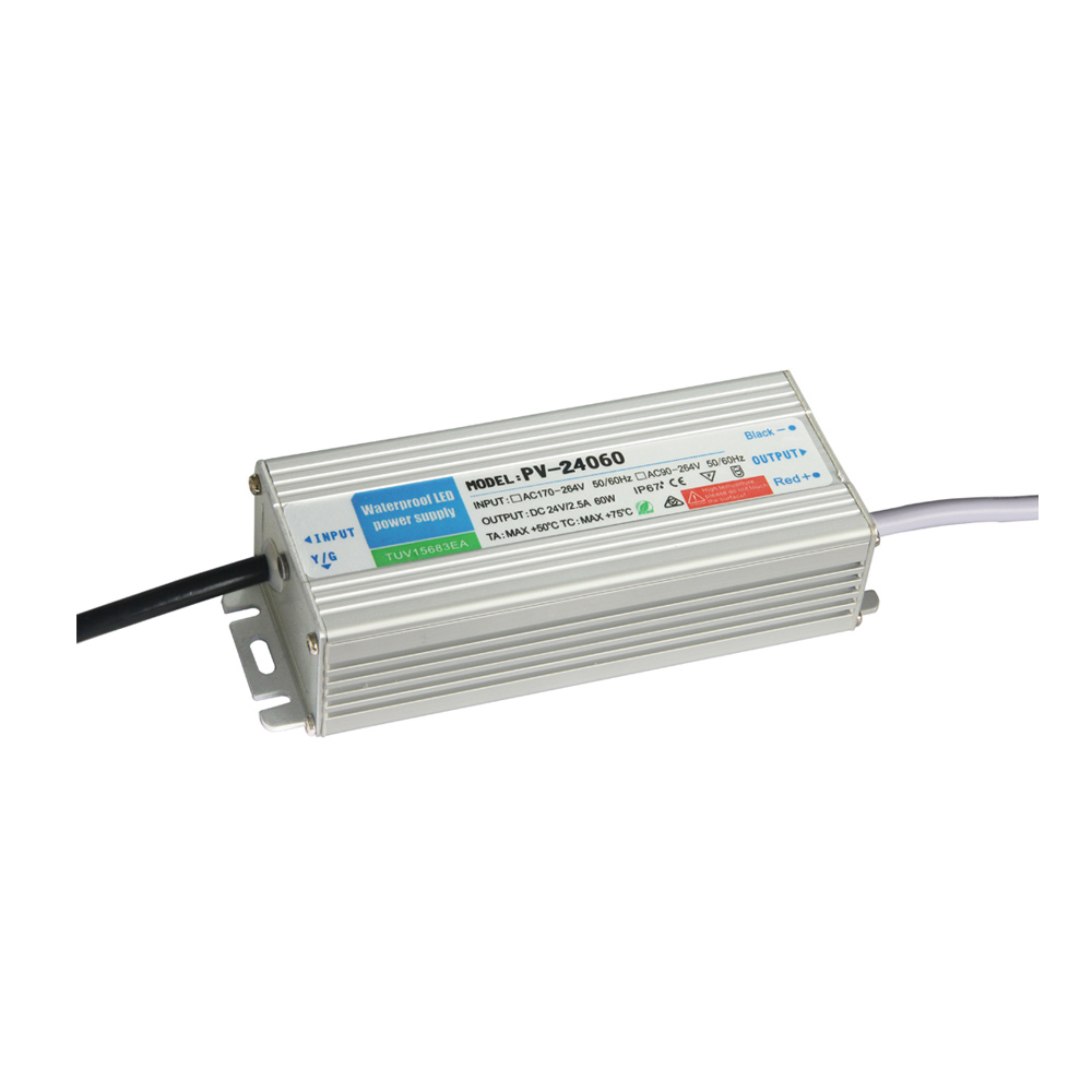 Outdoor Waterproof Transformer Power Supply Adapter LED Light Driver AC-DC 24V 5A 60W
