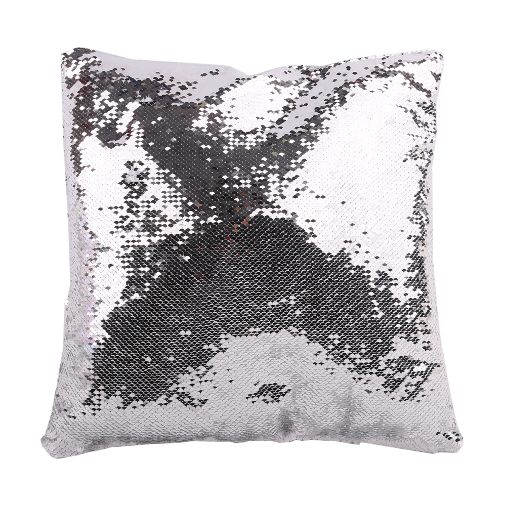 US Stock - 10pcs Square Blank Reversible Sequin Magic Swipe Pillow Cover Cushion Case for Sublimation