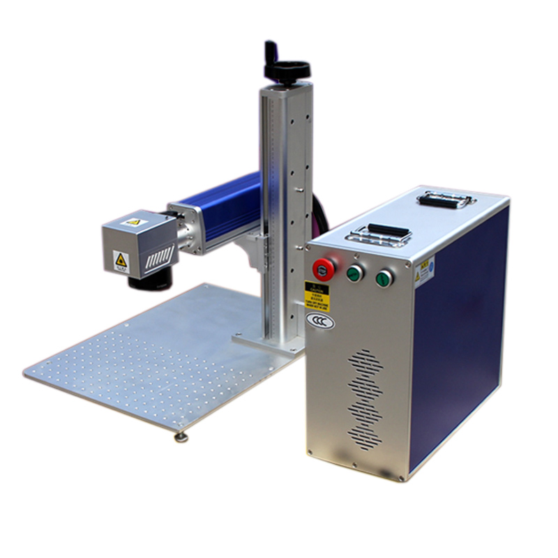 US Stock, CALCA 50W Split Fiber Laser Marking Engraving Machine, Rotary Axis Include