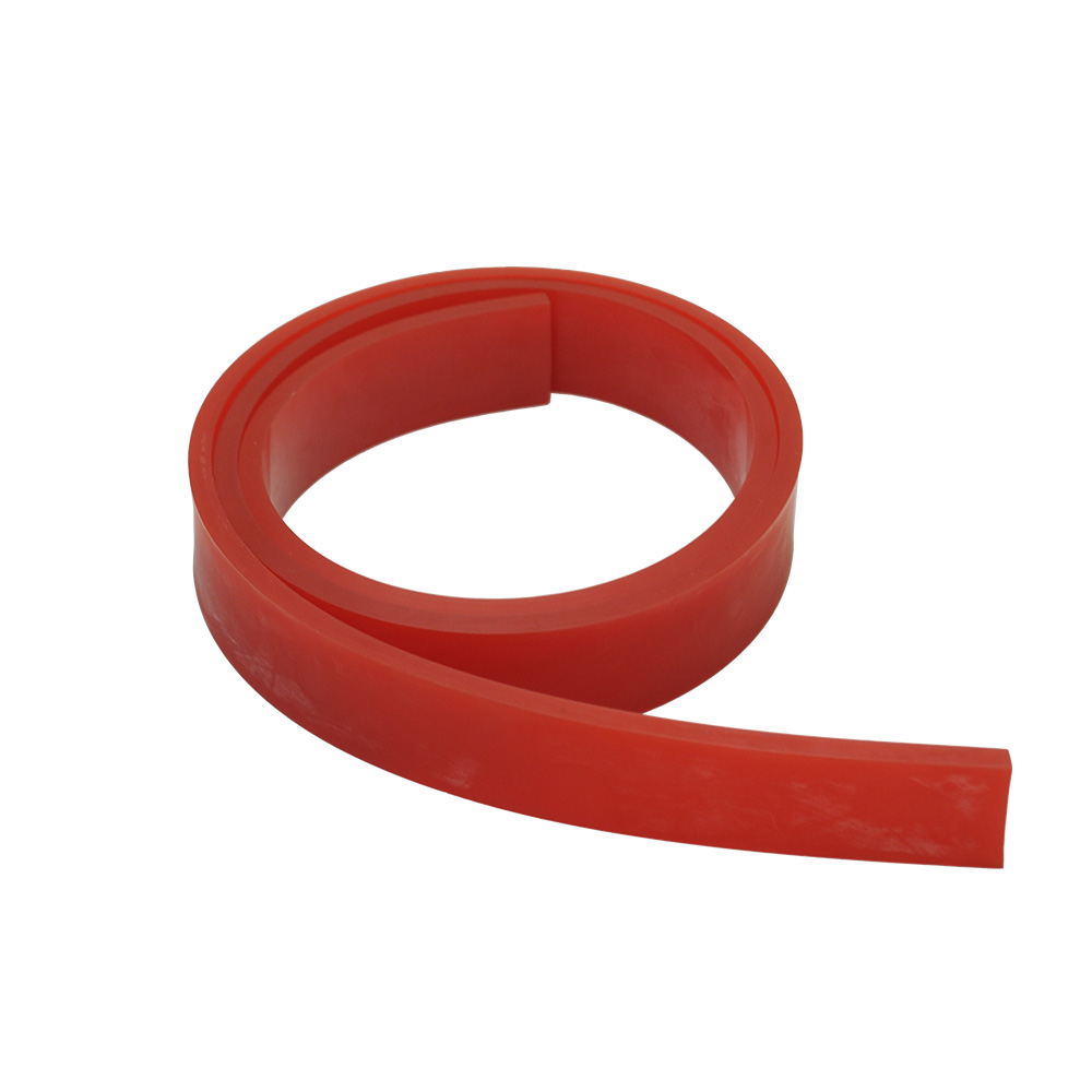 """US Stock, 6FT - 72"""" Silk Screen Printing Squeegee Blade - 60 DURO - Polyurethane Rubber (Red Color)"""