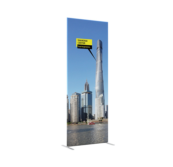 Hot Sales 25mm Aluminum Tube Exhibition Booth Tension Fabric Display (Graphic Included / Single Sided)