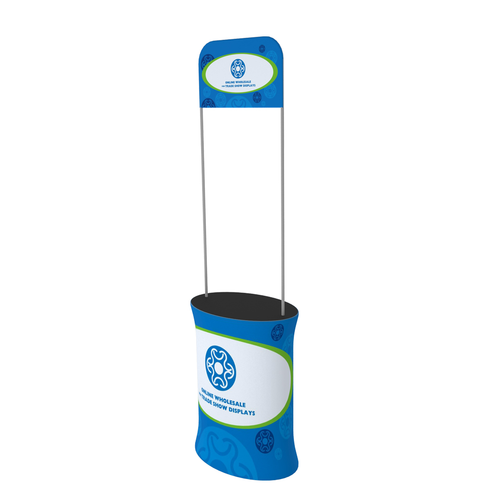 Oval Fabric Tension Promotion Counter with Custom Graphic