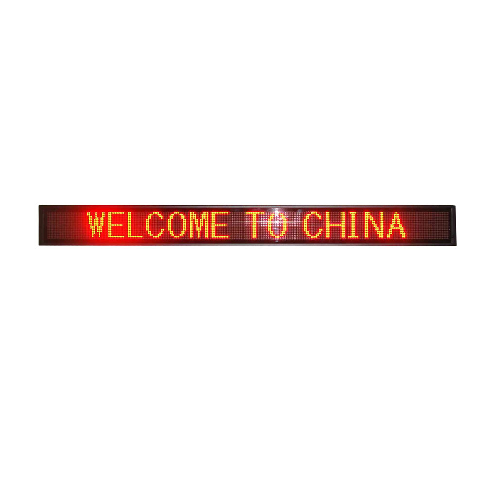 """46"""" x 5"""" Indoor 2 Lines LED Scrolling Sign (Tricolor or Single Color)"""