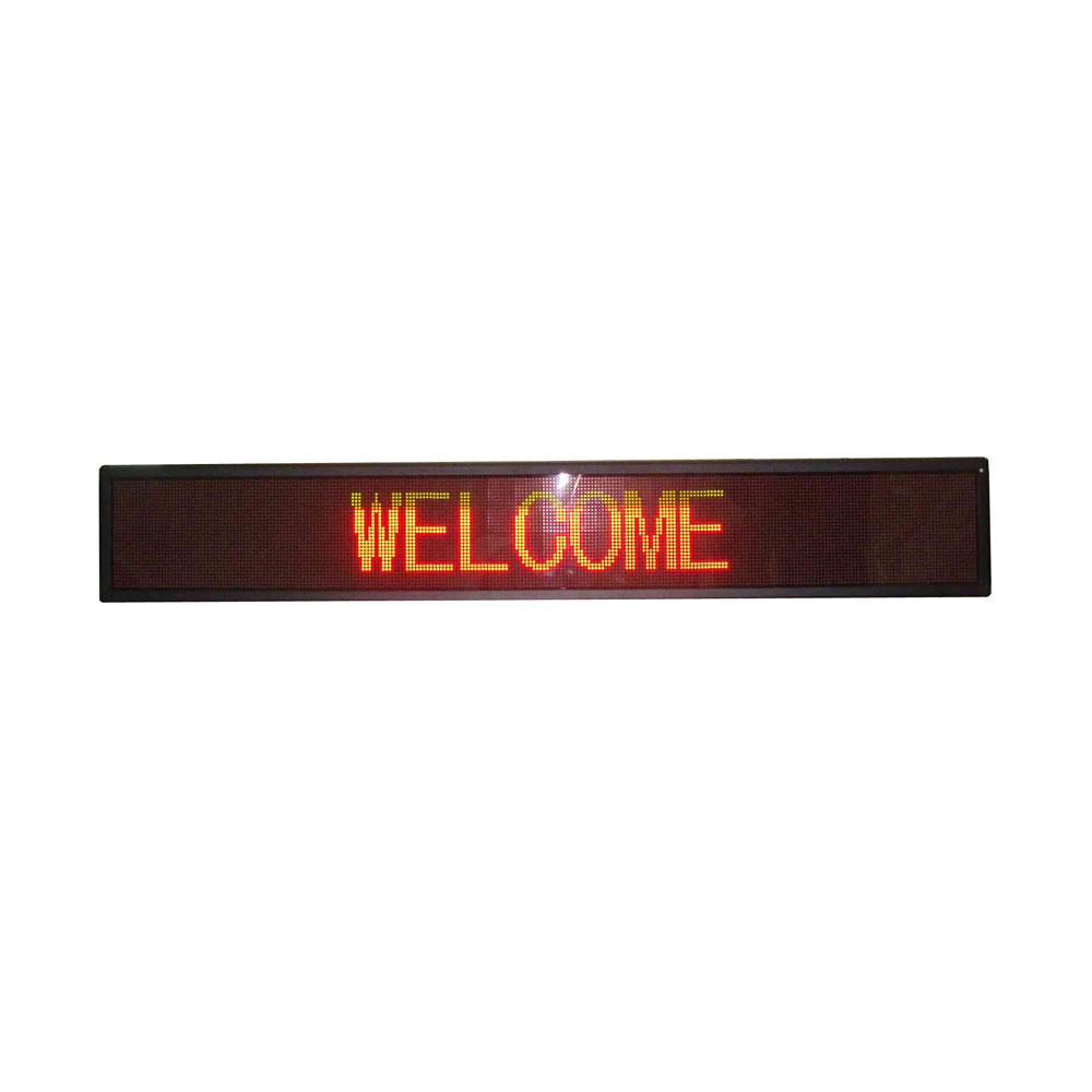 """50"""" x 8"""" Indoor 4 Lines LED Scrolling Sign (Tricolor or Single Color)"""
