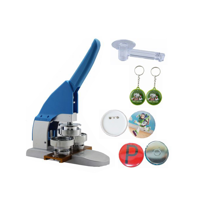 """1-1/4"""" 32mm Button Maker Machine Badge Press+ Pin Buttons+Magnetic Buttons+Keychains +1pc 32mm Circle Cutter"""