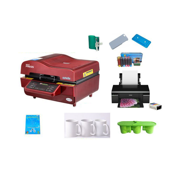 3D Vaccum Heat Press Solution for Phone Cases and Mugs