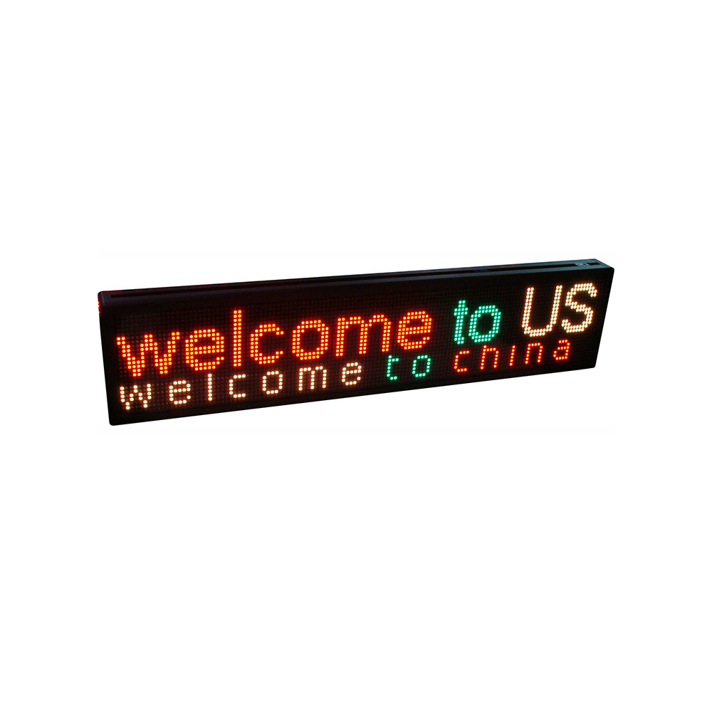 """50"""" x 9"""" Indoor 3 Lines LED Scrolling Sign (Tricolor or Single Color)"""