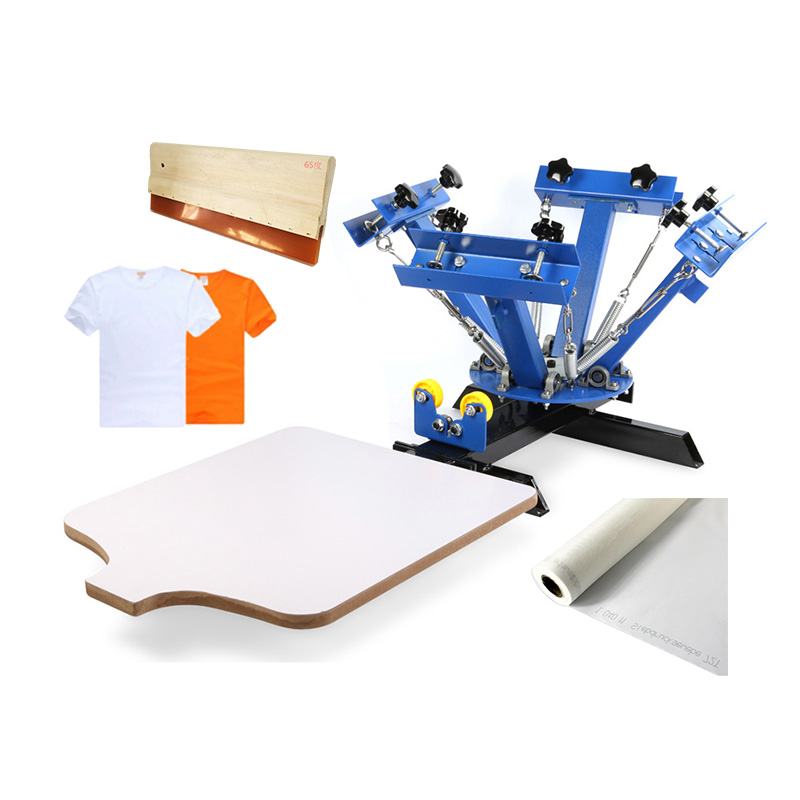 US Stock, CALCA 4 Color Manual Screen Printing Press, Silk Screening Pressing DIY with 1 Station