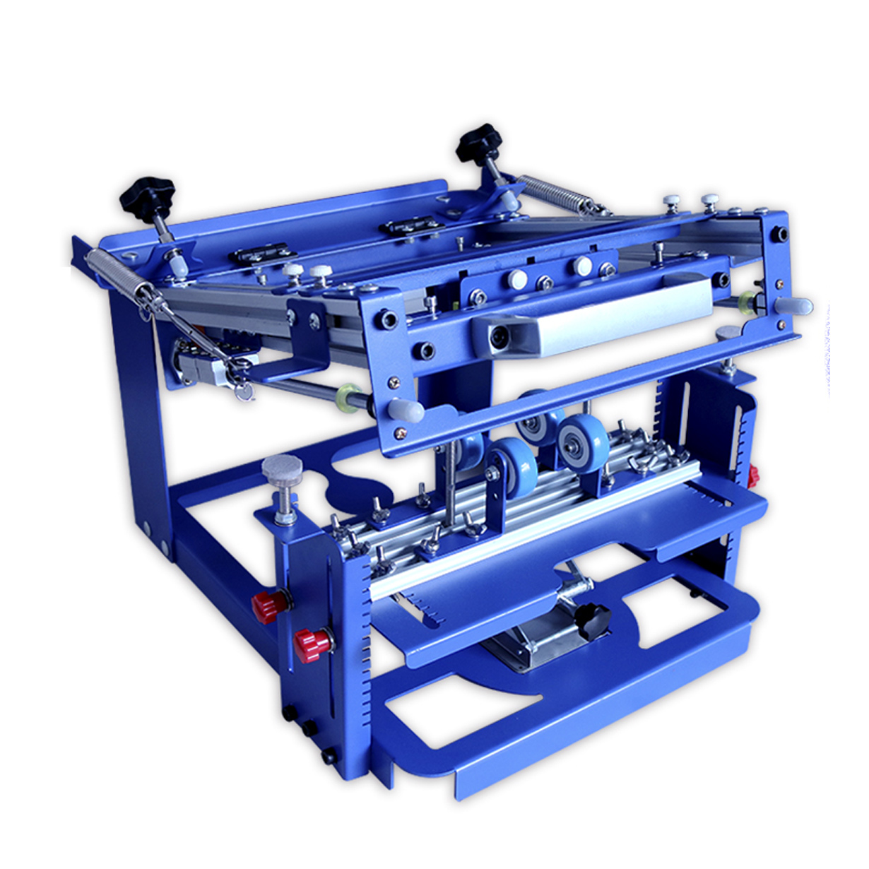 """US Stock Manual Cylinder Curved Screen Printing Press for Cup / Mug / Bottle with 2 Free Frames (Diameter:3.15"""")"""