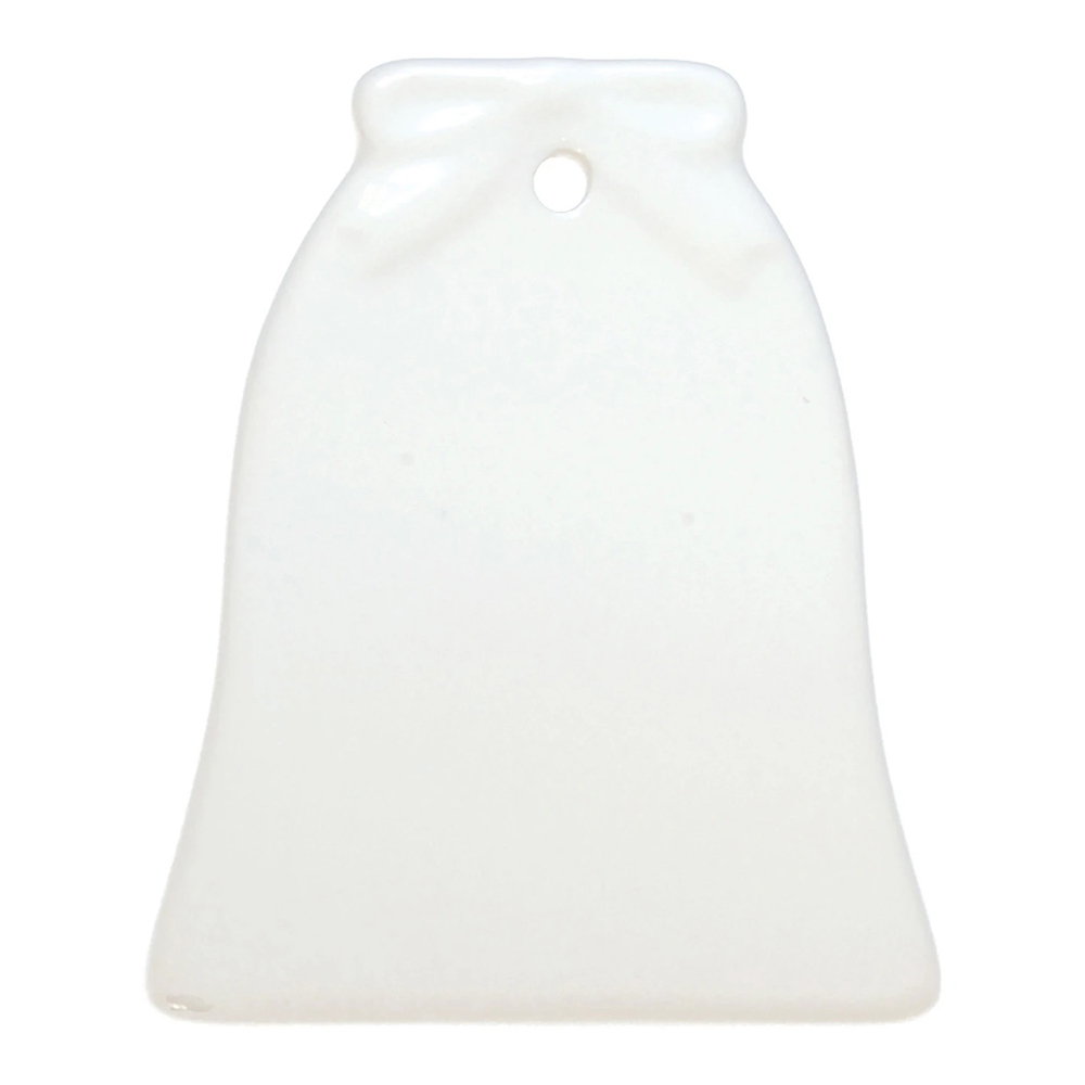 US Stock 100 Pack 3in Bell Two Sided Ceramic Sublimation Blanks Holiday Ornament, Christmas Tree Hanging Ornaments