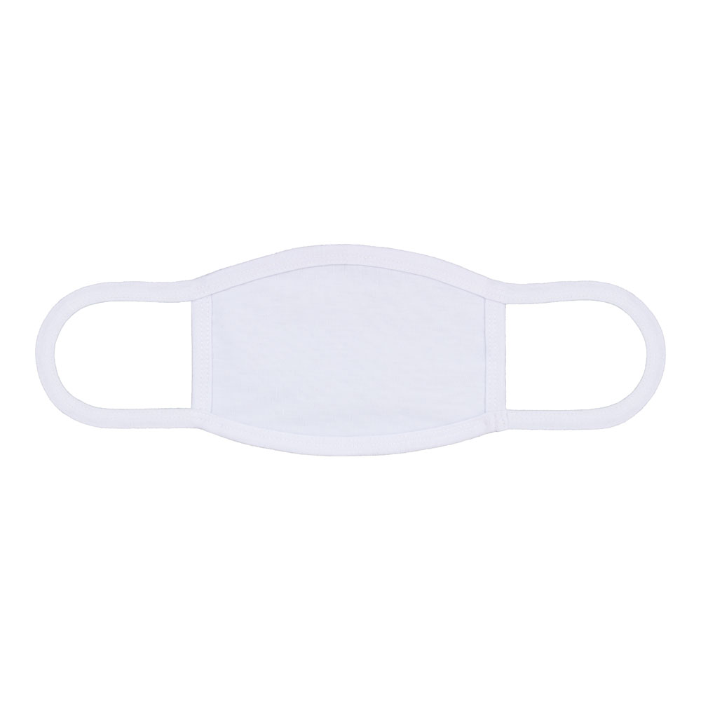 """7"""" x 4.7"""" Sublimation Blank Dust Protective Face Mouth Mask With Ear Loop"""