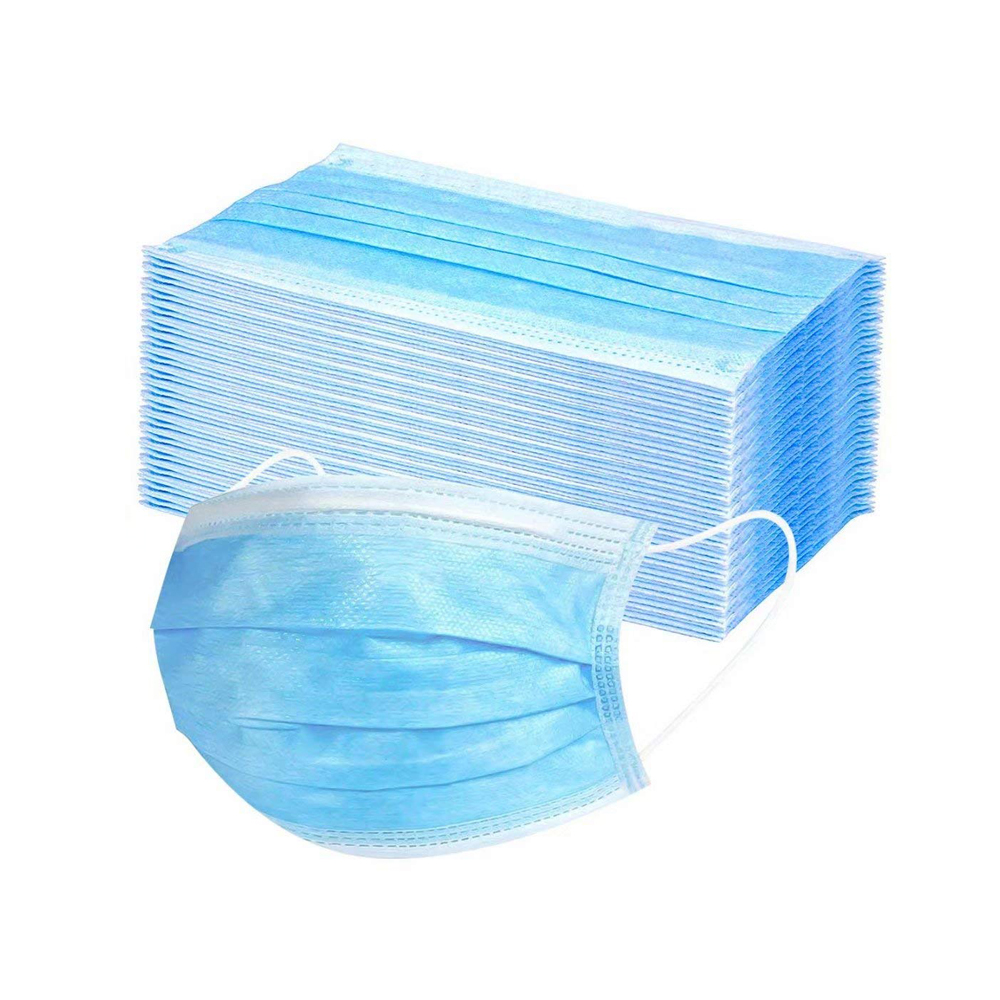 50pcs CE FDA Registered 3 Ply Ear Loop Disposable Face Mask Anti Dust Masks