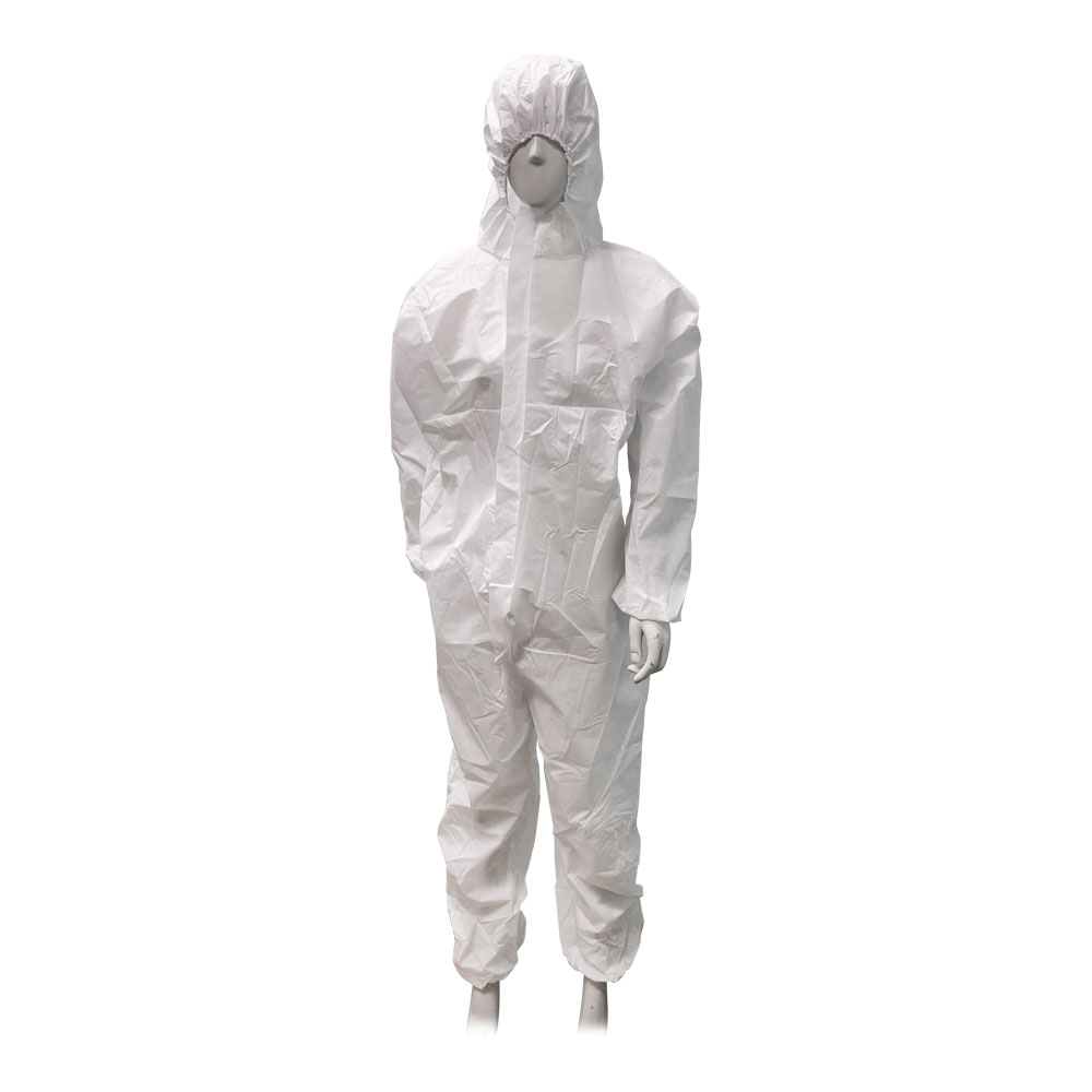 US Stock 50pcs White Disposable Coveralls Painters Protective Overall Boiler Suit Hood Lab Coat Virus Protective Overall