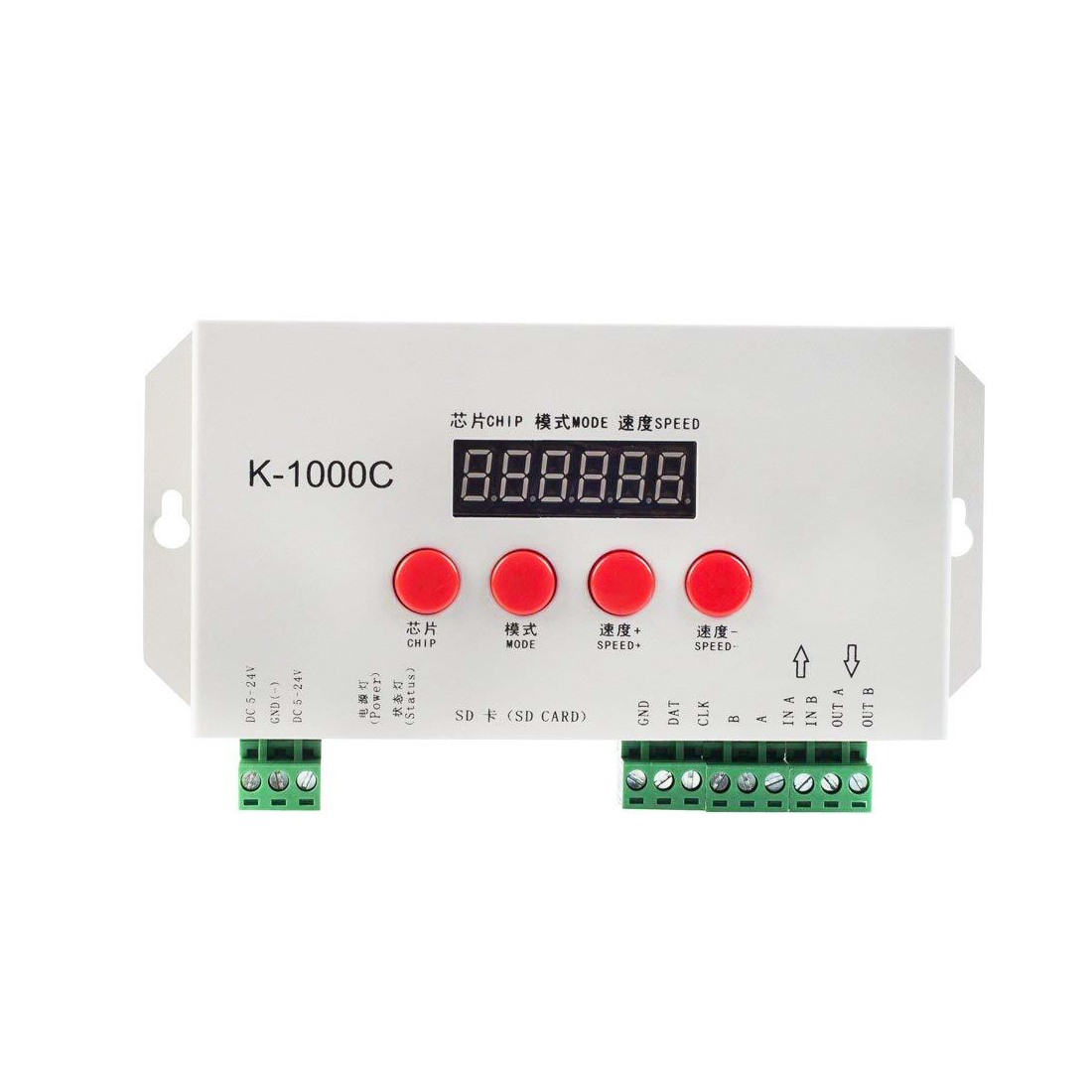 K-1000C T-1000S updated 2048 Pixels Addressable Controller with SD Card DC5-24V