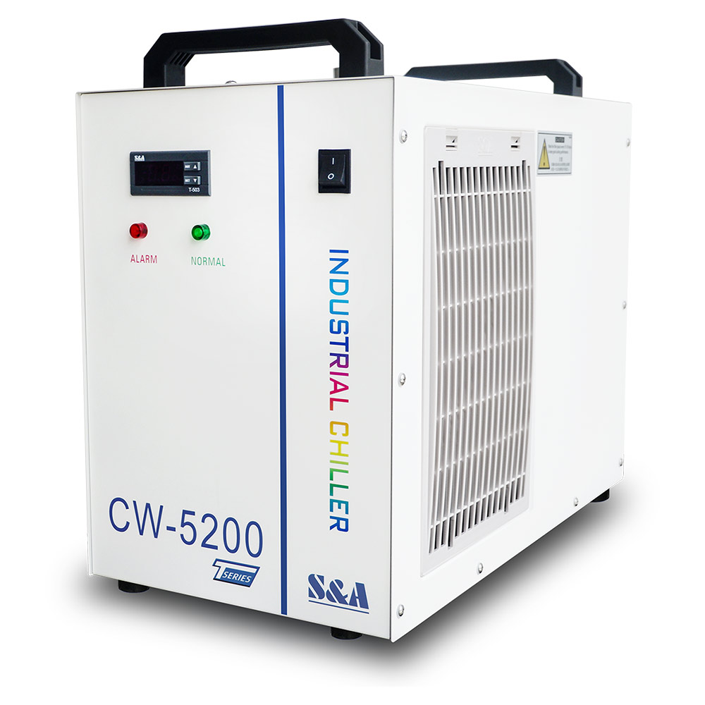 S&A CW-5200TG Industrial Water Chiller (AC 1P 220V, 50Hz) for Single 150W CO2 Glass Laser Tube Cooling