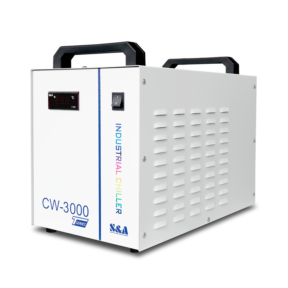 US Stock, S&A CW-3000DG Thermolysis Industrial Water Chiller (AC110V, 60Hz) for Laser Engraver with 60W / 80W CO2 Glass Tube