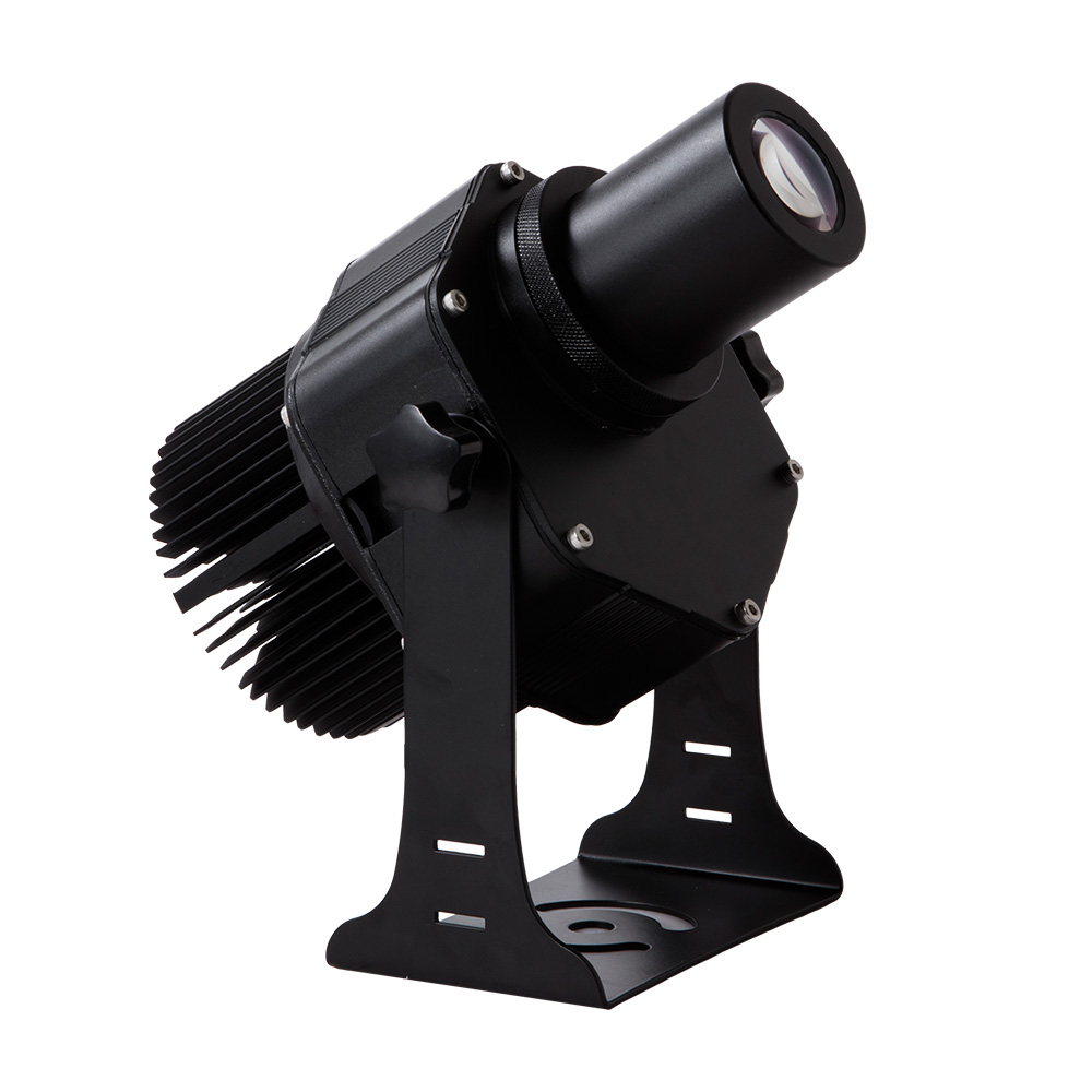 40W Outdoor Black Desktop or Mountable LED Gobo Projector Advertising Logo lamp (with Custom Rotating Glass Gobos)