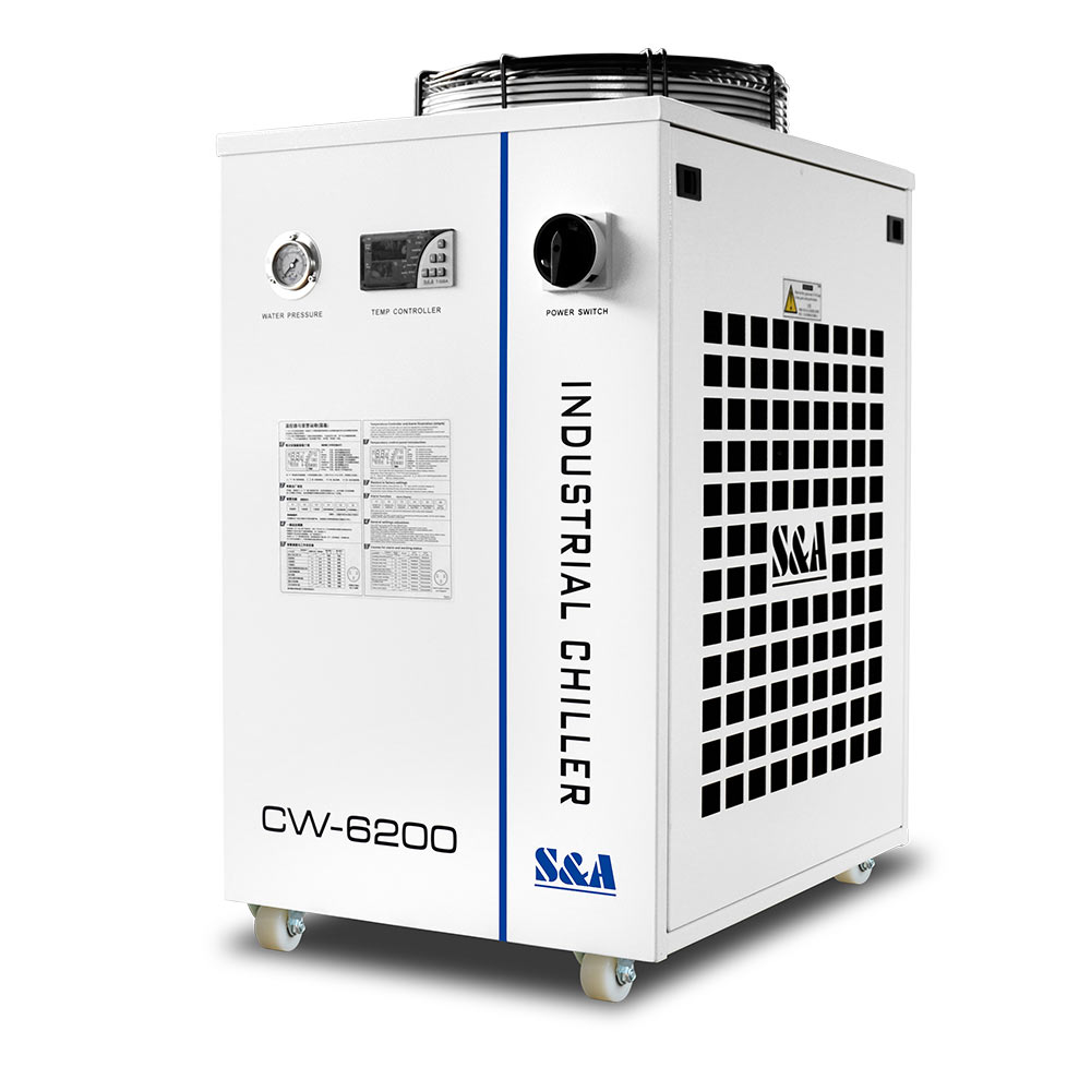 US Stock S&A 220V 60Hz CW-6200BN Industrial Water Chiller (for 200W Laser Diode and CO2 RF Laser , 600W CO2 Laser,400W Solid-state Laser, 600W-1000W Fiber Laser, 45KW CNC Spindle Cooling)