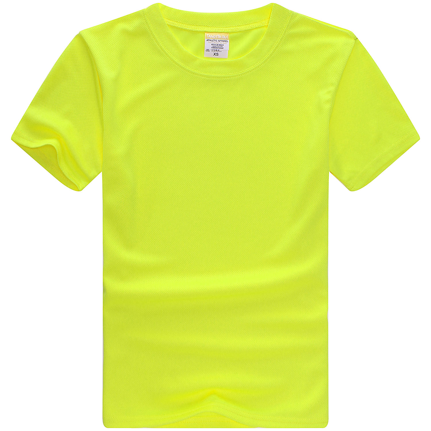 160g 75D Sublimation Blank Mesh Solid Color Round Neck  Polyester T-Shirt 10pcs