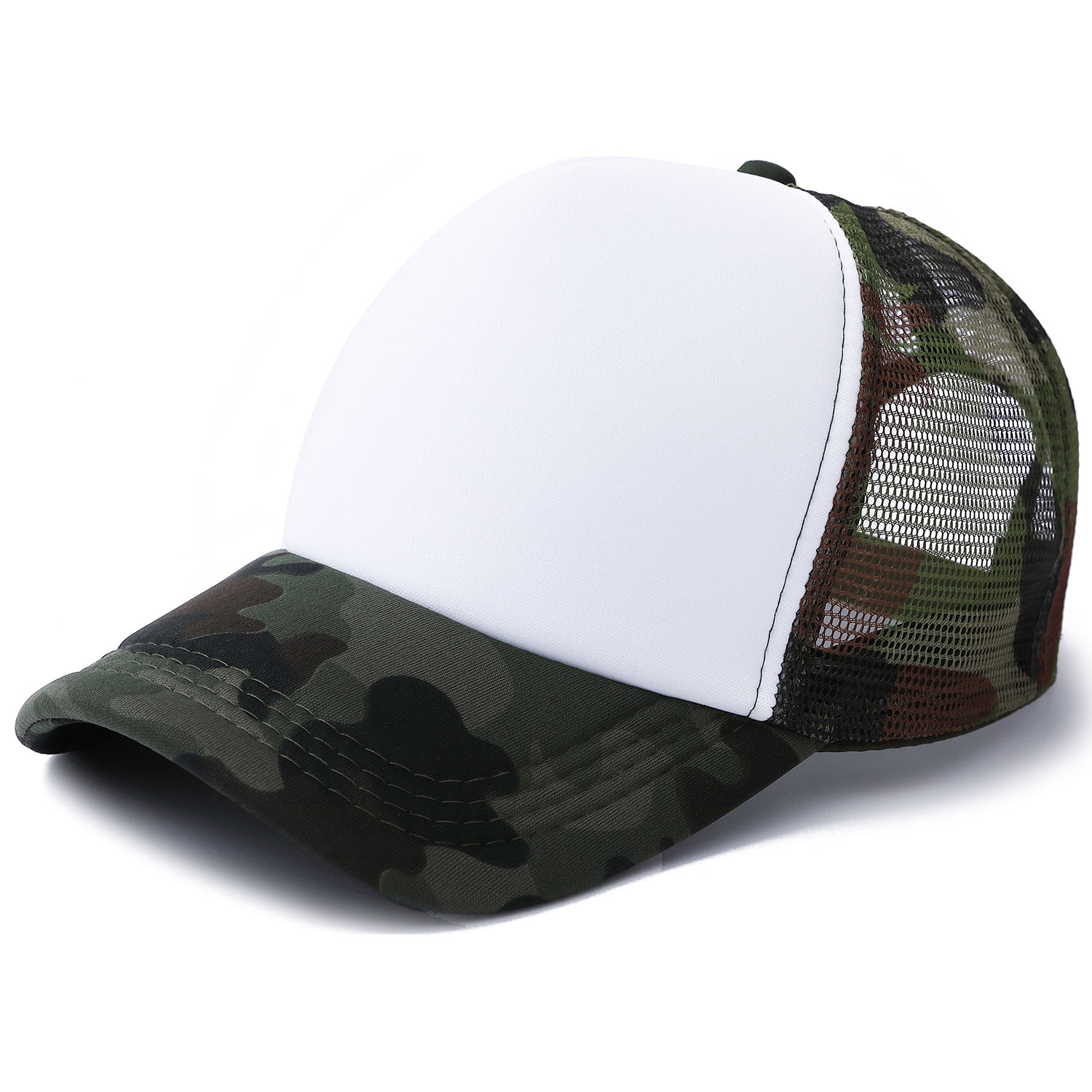 10pcs Camouflage Polyester Mesh Cap Hat for Sublimation Printing