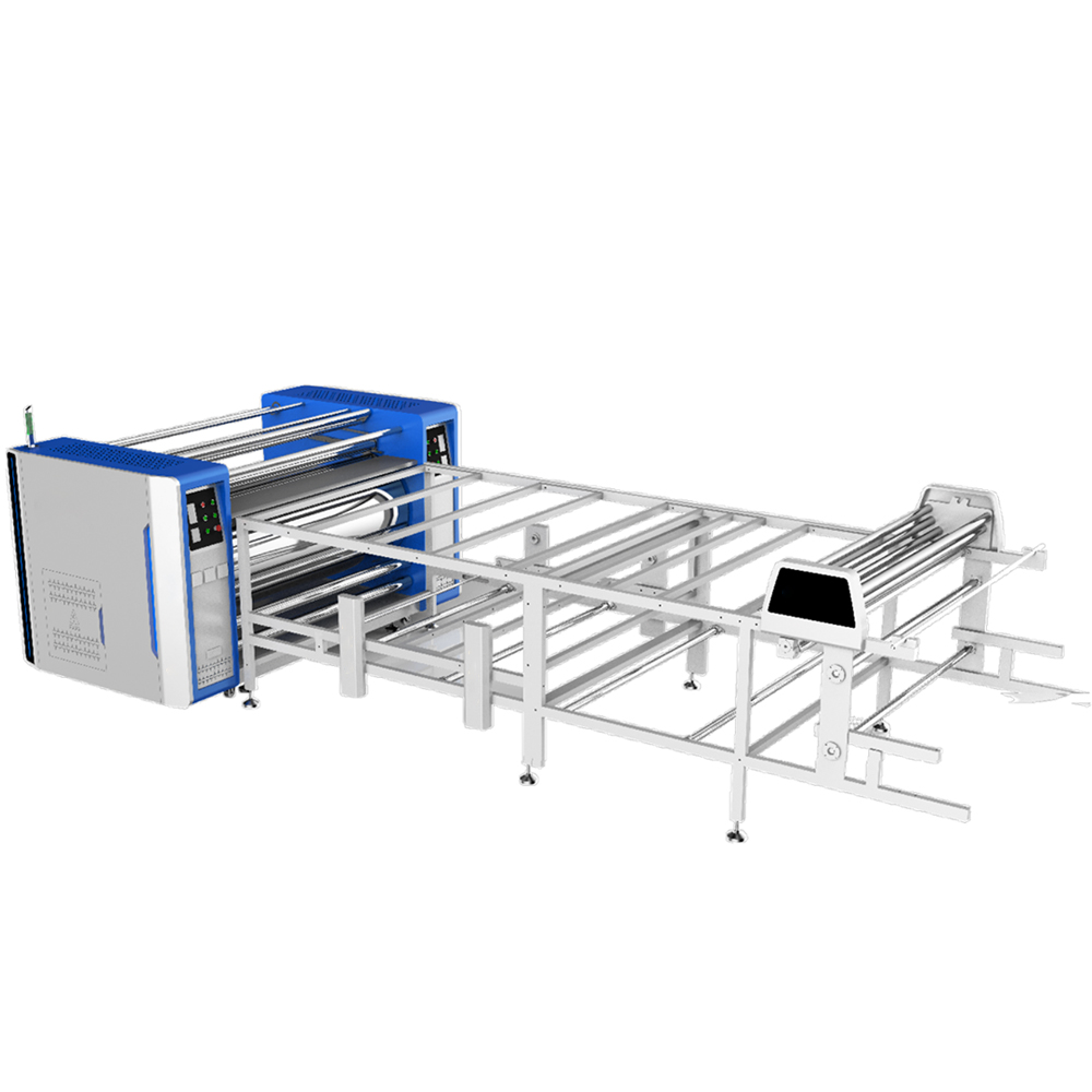 74.8in/1900mm Roll-to-Roll Large Format Heat Transfer Machine PLC+Auto. Alignment blanket (Oil-warming Machine)