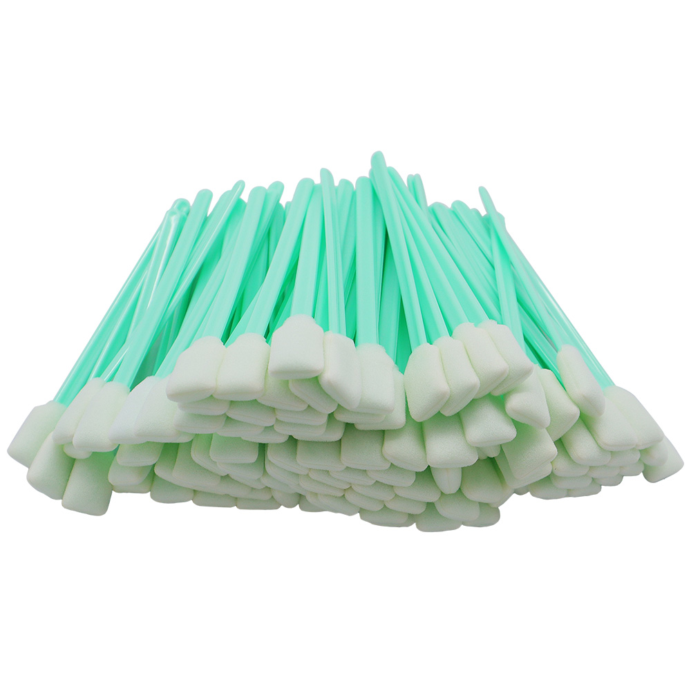 """100 pcs Foam Cleaning Swabs for Epson / Roland / Mimaki / Mutoh Inkjet Printers 5"""" Long"""