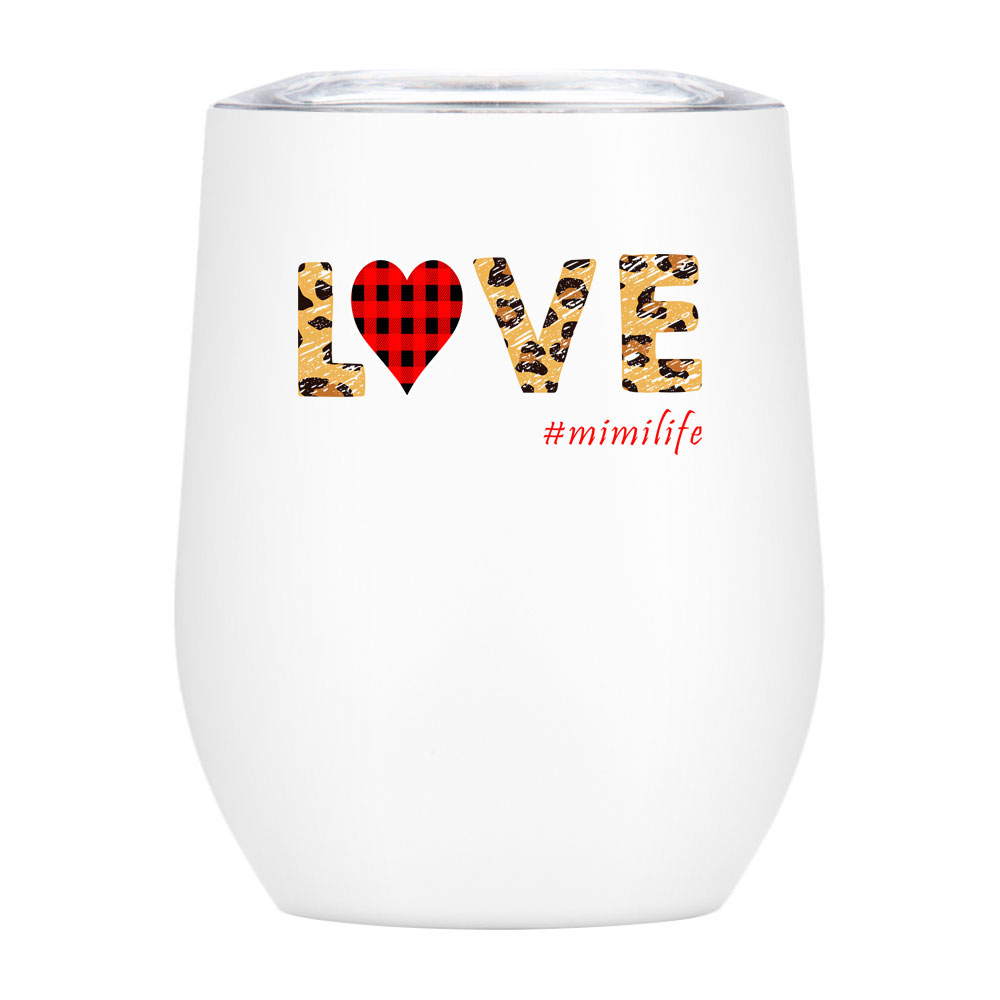 US Stock, CALCA 10 Pack Vacuum Insulated 2 Layers 304 Stainless Steel 12oz Sublimation White Blanks Wine Tumbler Mugs, With Direct Drinking Lid