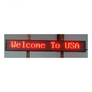 "59"" x 6"" Indoor 2 Lines LED Scrolling Sign (Tricolor or Single Color)"
