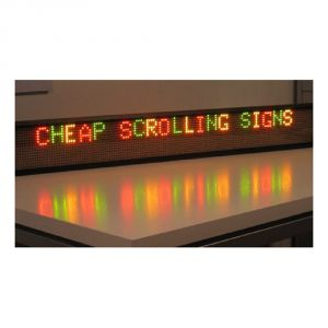 "68"" x 6"" Semi Outdoor 2 Lines LED Scrolling Sign(Tricolor or Single Color)"