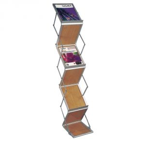 Portable Wooden Folding Magazine Display Stand
