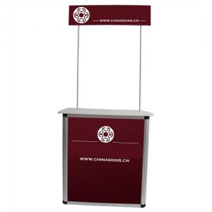 Standard Aluminum Portable Trade Show Counter with Top Board