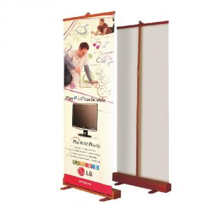 "Roll up Bamboo Banner Stand(developed) 49"" x 78.8""(850 x 2000mm)"