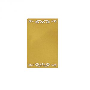 Sublimation Blank Metal Name Card