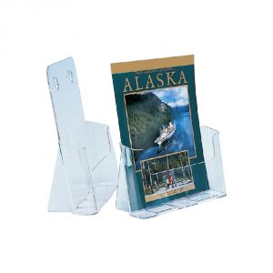 1-Tier High Back Plastic Brochure Holder-A4