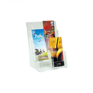 3-Tier High Back Plastic Brochure Holder-A4 (W/Partition)