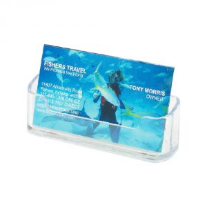 Horizontal Plastic Name Card Holder